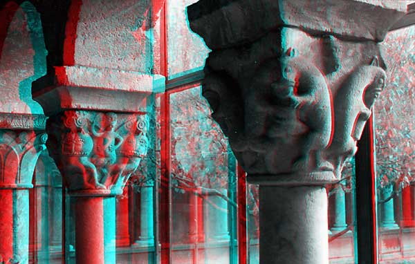 Columns, 1993, stereo photo by Fred Hatt