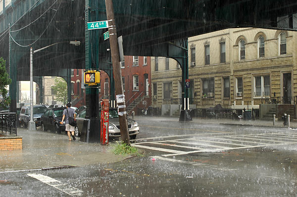 LIC Downpour, 2005, photo by Fred Hatt
