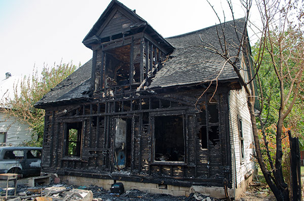 Burned House on East Maple, 2012, photo by Fred Hatt