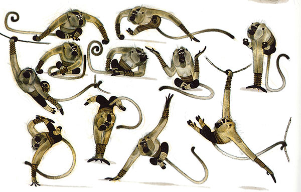 "Monkey Concepts 2 for ""Kung Fu Panda"", 2008 film, artwork by Nicholas Marlet"