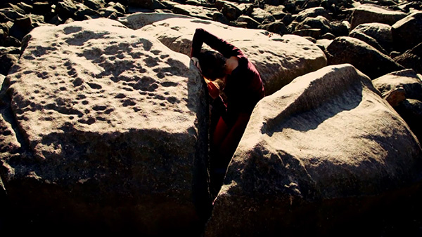 "Still from ""Rocks Remember"", 2011, video edited by Yuko Takebe"