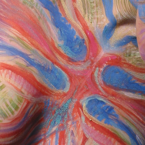 Cathexis (detail), 2002, body painting and photo by Fred Hatt