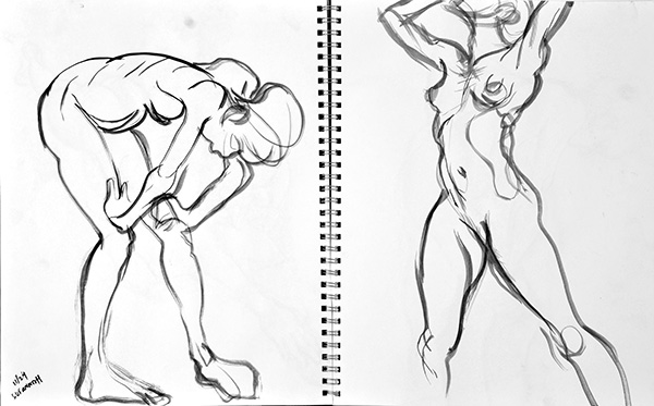 Complementary Poses, 2012, by Fred Hatt