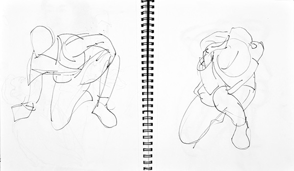 Magic quick poses 2, 2013, by Fred Hatt
