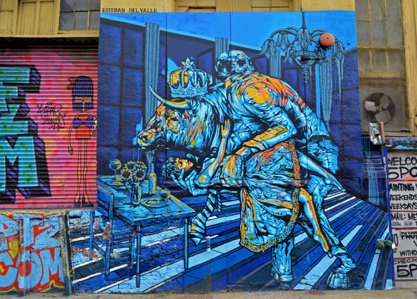 Mural by Esteban del Valle, 5 Pointz, photo by Fred Hatt