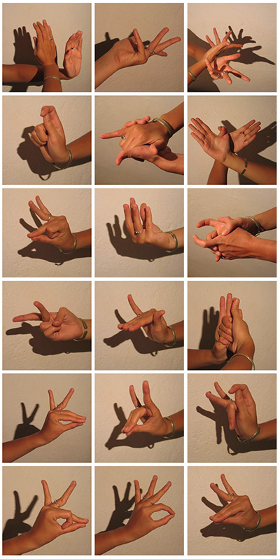 Dance mudras, date and photographer unknown
